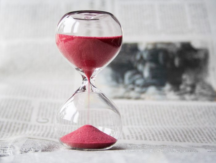 time management hacks hourglass